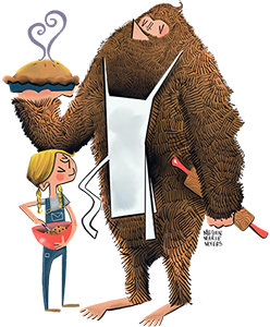 Nancy P's Bakery Girl & Sasquatch